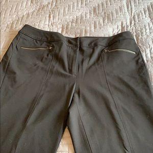 Sejour black dress pants with Zipper detail